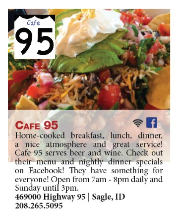 Sagle, ID: Feature in Local Food Guide