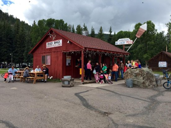 South Fork, CO: The famous Fun Valley Snack Shack. Ice Cream, Shakes, Burgers and Fries and so much more