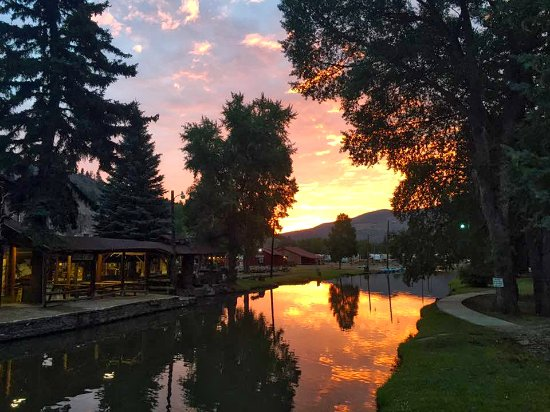 South Fork, CO: Sunrise at Fun Valley Family Resort. Is it no wonder folks don't want to leave?
