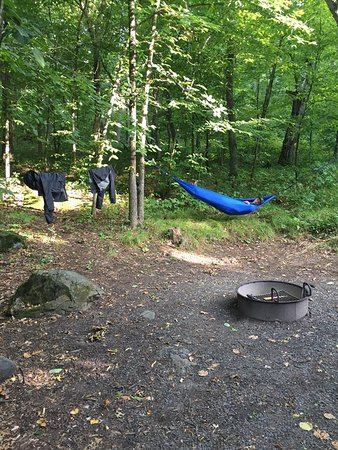 Interstate State Park- Wisconsin: Nice fire ring and perfect trees to hang a hammock!