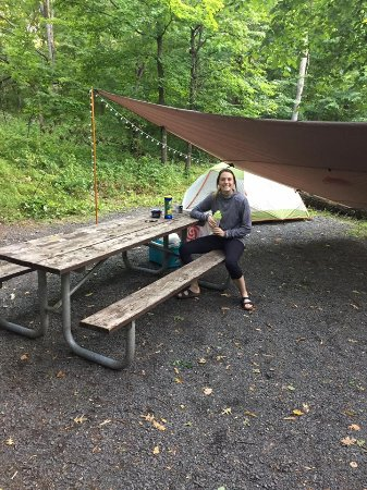 Interstate State Park- Wisconsin: Tons of space to set up full tarp to eat under as well as hammock and tent!