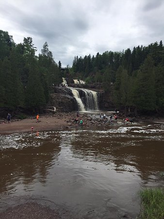 Two Harbors, MN: View from the base of the main falls