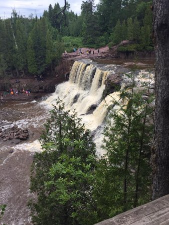 Two Harbors, MN: Upper view of the main falls
