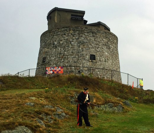 Carleton Martello Tower: Actual Tower closed for renovation