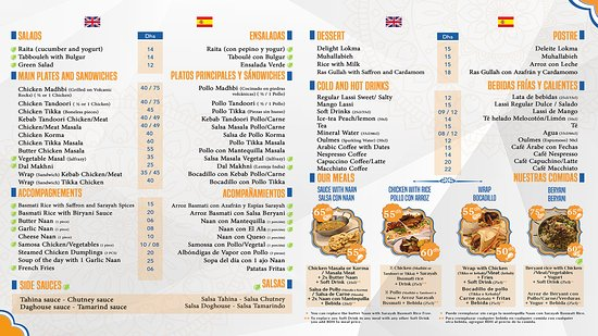 Our menu in english and spanish language picture of sarayah food sarayah food our menu in english and spanish language forumfinder Gallery