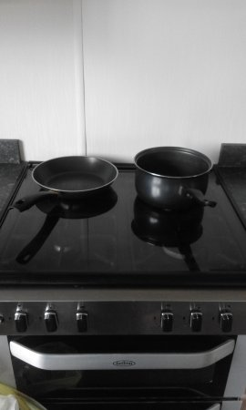 Parkdean Resorts - Coopers Beach Holiday Park: this was our total cooking equipment in a lodge for up to 8