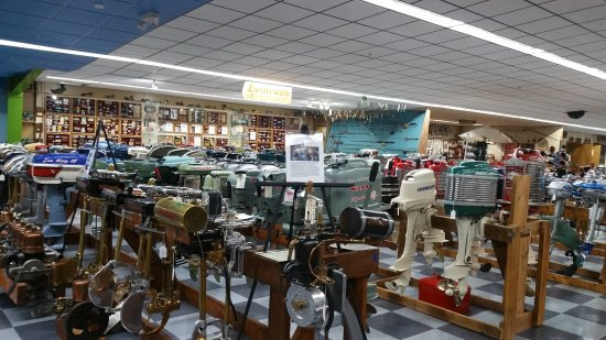 Tallahassee Antique Car Museum: Boat motor collection