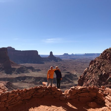 Moab, UT: Looking out from overhang