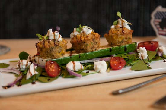 Zucchini Sweet Corn Fritters Picture Of La Patio Cafe Bar