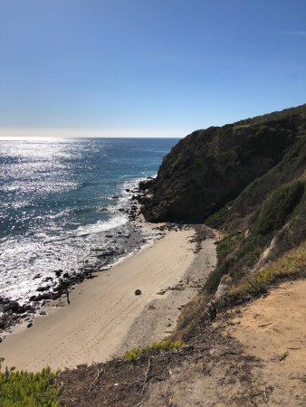 Point Dume State Beach and Preserve: View West towards rocky coast