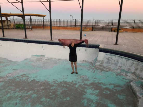 "Hotel El Cortez: second pool in Baja now where no water so I did ""air swimming"""