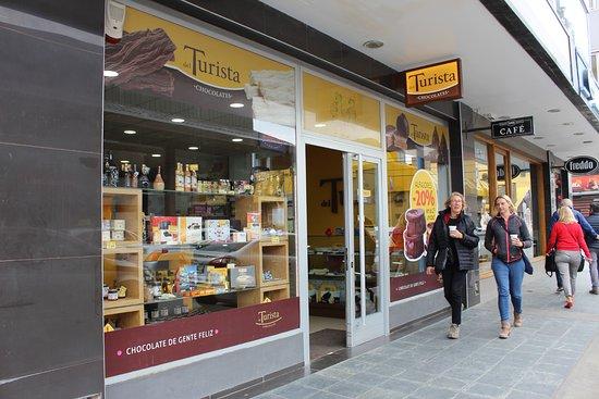 Chocolates del Turista: fachada local centro Ushuaia