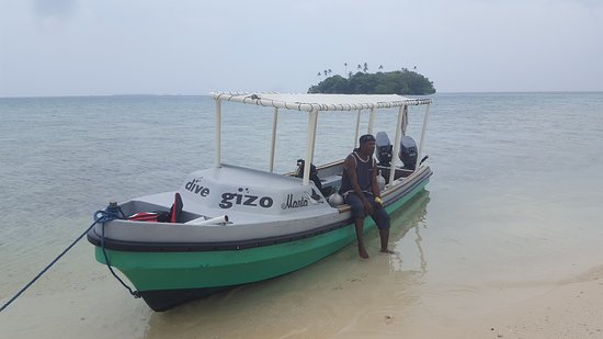 Gizo, Solomon Islands: Break between dives