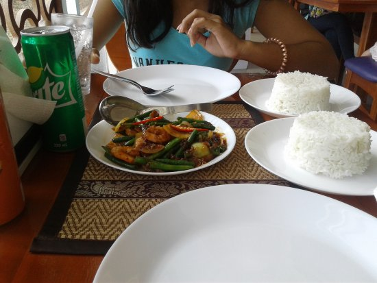 1st serving out, shrimp and rice - Picture of little thai Kitchen ...