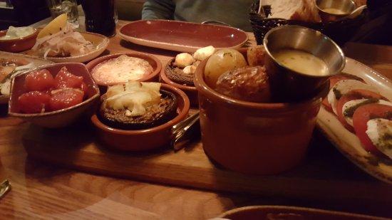 Anchas'bodega: Shared meal at Anchas Bodega