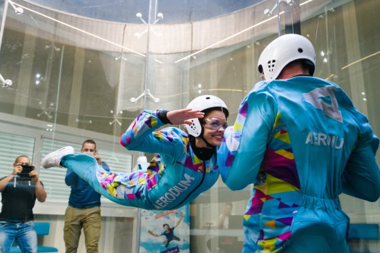 Flying in AERODIUM Logatec wind tunnel