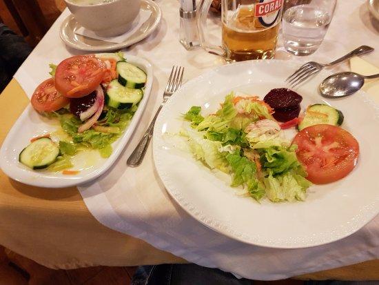 Small vegetable salad.