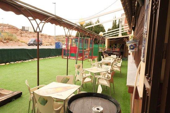Terraza Y Parque Infantil Picture Of Hostal Restaurante