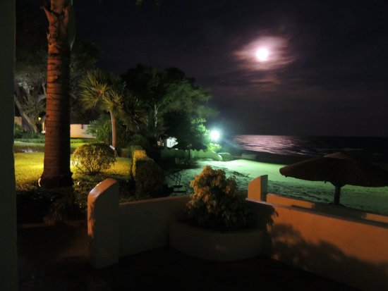 Sunbird Livingstonia Beach: View of the lake at night from my room