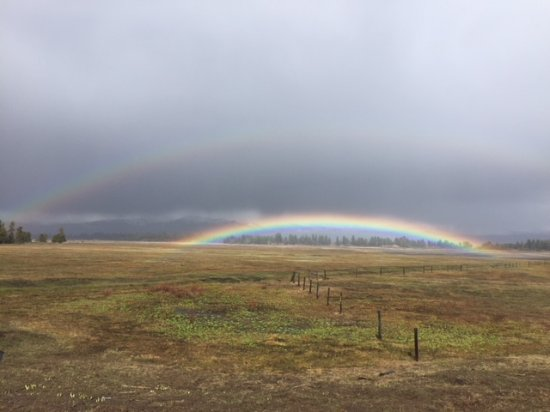 Donnelly, ID: Double rainbow over the lake