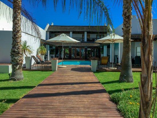 Augrabies Falls National Park, South Africa: Sicht auf Pool und Restaurant