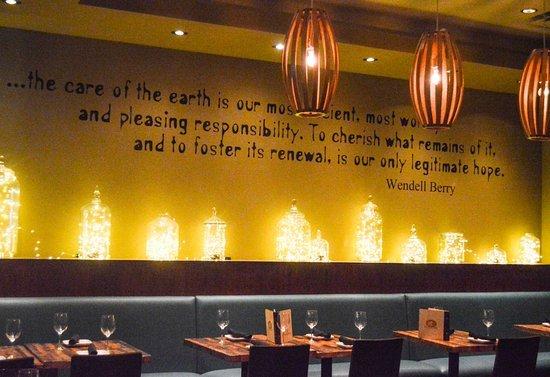 Bluestem Bar Table S Wine Annex Area With Custom Lighting