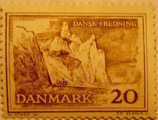 Moen, Denmark: Møns Klint på frimærke, 1962