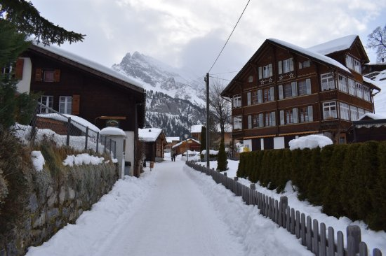 Gimmelwald Main Trail (No Vehicles - Hotel off screen to right)