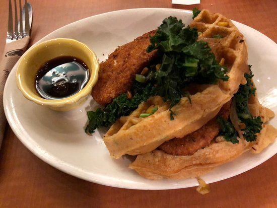 Southern Fried Chicken And Waffles Picture Of Native Foods Los