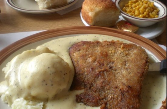 Arnold, MO: Country Fried Steak, mash potatoes and country gravy