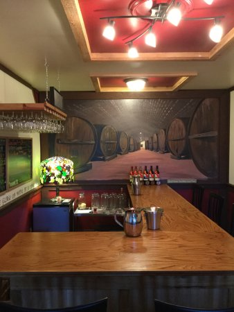 Cherryfield, ME : Have a seat at the bar and enjoy complimentary and in depth wine tastings.