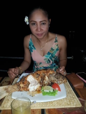 Coral Coast, Fiji: Whole fish for my wife