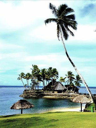 Coral Coast, Fiji: Restaurant location daytime