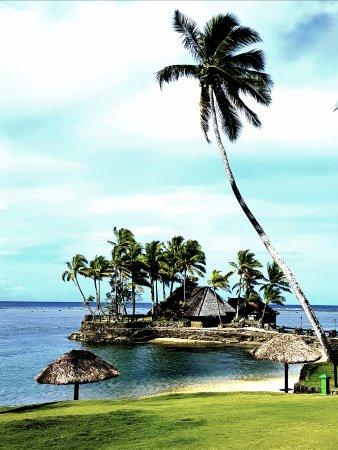 Coral Coast, Fiyi: Restaurant location daytime