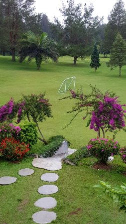 Pondok Brastagi, Indonesia: There is a soccer field at the grounds.
