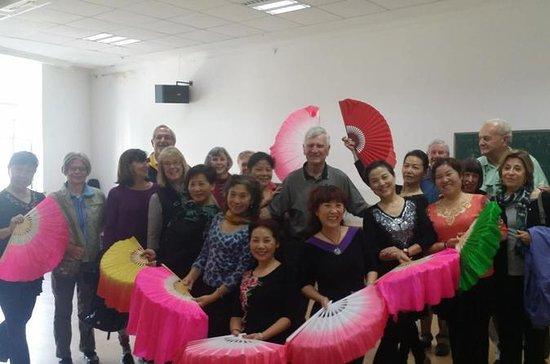 Comunidade local de Xangai e visita...
