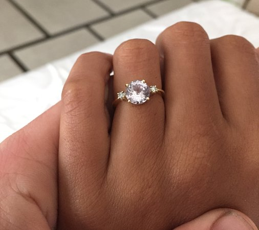 Bespoke Engagement Ring Diamond And White Sapphire Picture