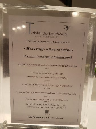 la table de balthazar tripadvisor. Black Bedroom Furniture Sets. Home Design Ideas