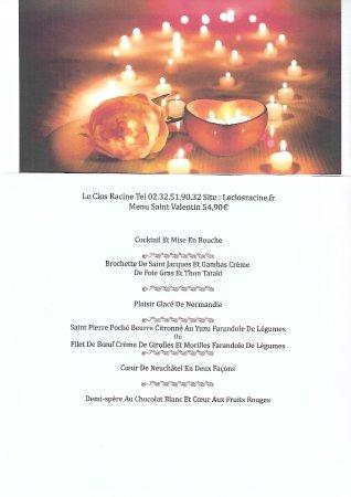 Gaillon, فرنسا: la saint valentin arrive n'hésitez pas à réserver