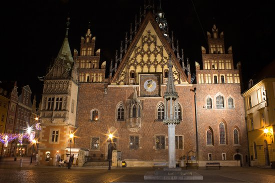 Wroclaw Town Hall : Night view