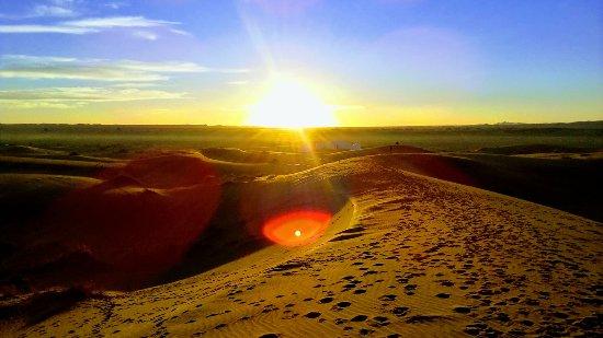 Marrakech, Morocco: The sunrise in the Sahara desert