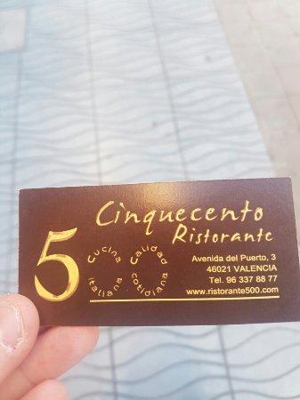Ristorante Cinquecento: 20180203_160131_large.jpg