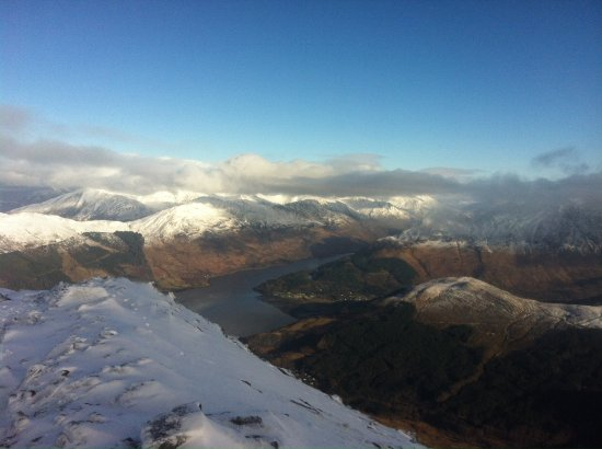 Kinlochleven, UK: View down to Loch Leven