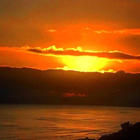 Dana Bay, Sudáfrica: Sonnenuntergang vom Balkon