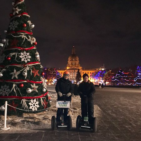 Segway tour of the lights at the legislature