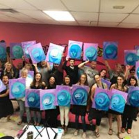 Masterpiece Mixers Paint Party & Pallet Studio: Love those manatees!