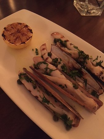 'Cesca: Razor clam appetizer - unique approach but slightly undercooked.