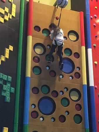 Wahooz Family Fun Zone: Wall climbing