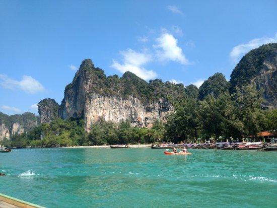 Islanda Hideaway Resort: From Railay Beach island while island hopping.  (Activity coordinated by resort)