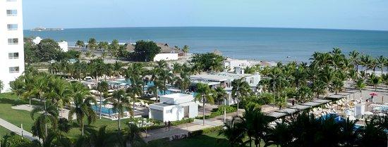 Rio Hato, Panamá: Panorama de la playa desde el balcón.